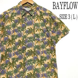 ベイフロー(BAYFLOW)のBAYFLOW ベイフロー 半袖 総柄 ヤシの木柄 アロハシャツ L(シャツ)