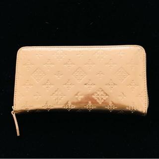 ラシット(Russet)のrusset♡未使用美品ゴールドブロンズカラー型押し長財布 美品(財布)