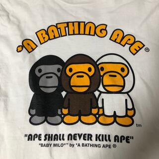 A BATHING APE - APE マイロ Tシャツ M ロンT シャークパーカー