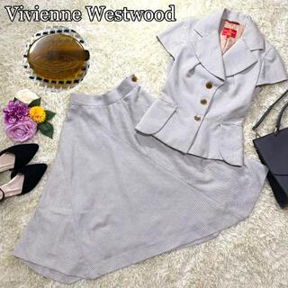 ヴィヴィアンウエストウッド(Vivienne Westwood)のヴィヴィアン 半袖 セットアップ フレア スカート スーツ オーブ ボタン(スーツ)