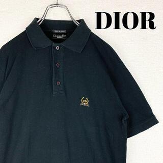 クリスチャンディオール(Christian Dior)の【Christian Dior】ポロシャツ ブラック 刺繍ロゴ◎ ワンポイント◎(ポロシャツ)