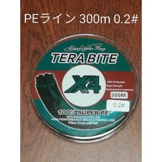 TERABITE PEライン(4本編み),300m巻,0.2#