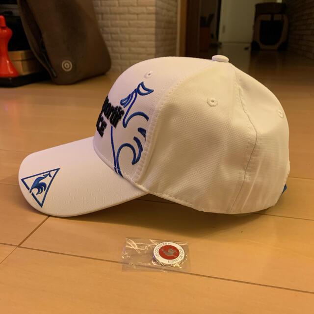 le coq sportif(ルコックスポルティフ)のマーカー付き ルコックスポルティフ  ゴルフ帽子 スポーツ/アウトドアのゴルフ(その他)の商品写真
