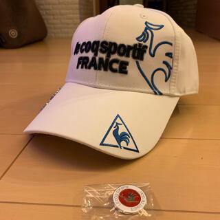 le coq sportif - マーカー付き ルコックスポルティフ  ゴルフ帽子