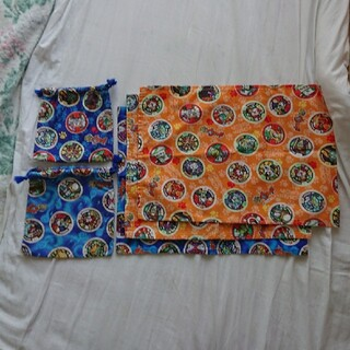 バンダイ(BANDAI)の妖怪ウォッチ ナフキン袋セット(ランチボックス巾着)