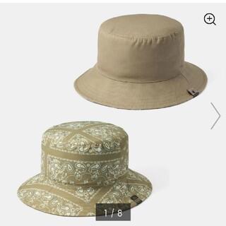 ジーユー(GU)の新品!guリバーシブル バケットハット MY コラボ 帽子 バンダナ柄  (ハット)