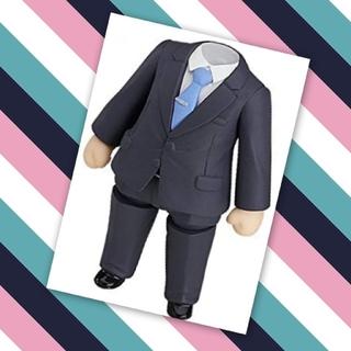 グッドスマイルカンパニー(GOOD SMILE COMPANY)のねんどろいどもあ⚜きせかえ スーツ⚜黒スーツ 白シャツ、青タイ、胴体ボディパーツ(アニメ/ゲーム)
