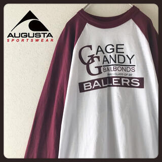 オーガスト(AUGUST)の【USA古着】augusta ラウンドスリーブ 7部袖シャツ XL カットソー(Tシャツ/カットソー(七分/長袖))