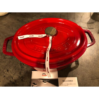 ストウブ(STAUB)のストウブ オーバル 27cm チェリー(鍋/フライパン)