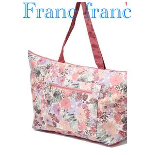 フランフラン(Francfranc)の新品 フランフラン ヴォヤージュ キャリーオン トートバッグ エコバッグ 花 春(トートバッグ)