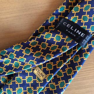 セリーヌ(celine)の【CELINE PARIS】ネクタイ モノグラム柄 本絹100% スペイン製(ネクタイ)