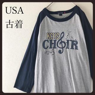 【USA古着】rporttak ラグランスリーブ 七分袖シャツ カットソー  S(Tシャツ/カットソー(七分/長袖))