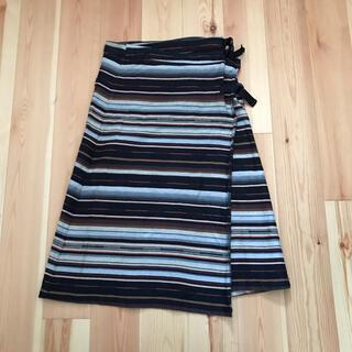 ビームスボーイ(BEAMS BOY)の巻きスカート ボーダー(ロングスカート)