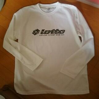 ロット(lotto)のlotto 速乾 長袖 メッシュ Tシャツ 白 LL XL(Tシャツ/カットソー(七分/長袖))