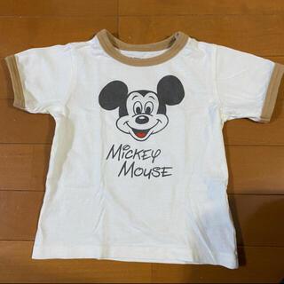 グローバルウォーク ミッキーマウス ベージュ白Tシャツ 100 90