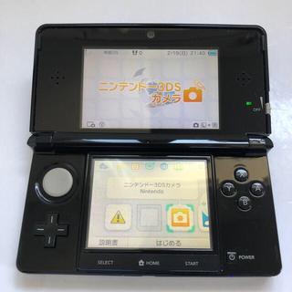 ニンテンドー3DS - 任天堂  ニンテンドー3DS コスモブラック  本体 タッチペン メモリーカード