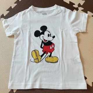 ユニクロ(UNIQLO)の【未使用】ユニクロ ミッキーTシャツ 100(Tシャツ/カットソー)