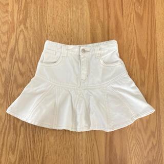 ユニクロ(UNIQLO)の【ユニクロ】可愛いデニムスカート 白 120(スカート)
