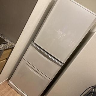 三菱 - 中古 三菱 冷蔵庫 MR-C34E-W ホワイト