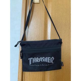 THRASHER - 美品 THRASHER スラッシャー サコッシュ 黒 バッグ 夏 カバン