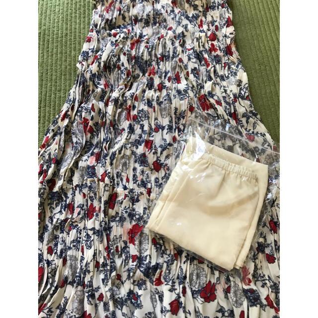 UNIQLO(ユニクロ)のユニクロ イネスコラボ商品 ツイストプリーツロングスカート  Lサイズ レディースのスカート(ロングスカート)の商品写真