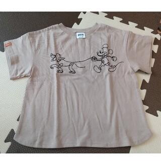 ブリーズ(BREEZE)の【未使用】BREEZE お散歩ミッキー Tシャツ 110(Tシャツ/カットソー)