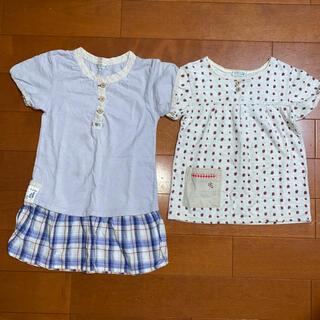 ラグマート(RAG MART)のラグマート   チュニックワンピース、半袖Tシャツ110㎝   (Tシャツ/カットソー)