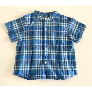 バーバリー(BURBERRY)のBURBERRY バーバリー☆半袖 ノバチェックシャツ 80cm(シャツ/カットソー)