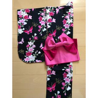 シマムラ(しまむら)の浴衣 140㎝ 作り帯付き(甚平/浴衣)