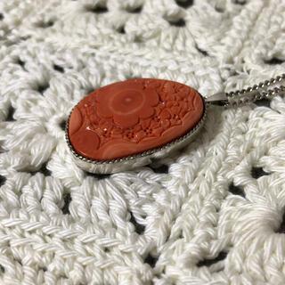 珊瑚ネックレス ロングチェーン(ネックレス)