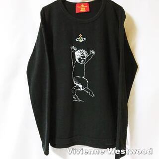 ヴィヴィアンウエストウッド(Vivienne Westwood)の【Vivienne Westwood】サティアORBロゴ ロングTシャツ(Tシャツ(長袖/七分))