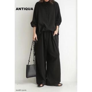 antiqua - 【 antiqua(アンティカ)】前後差ワイドシャツ