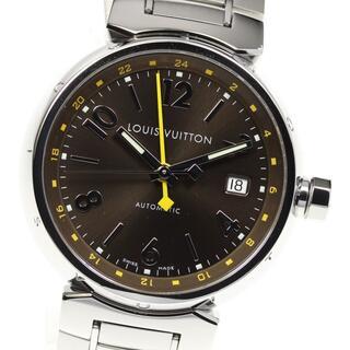 ルイヴィトン(LOUIS VUITTON)のルイ・ヴィトン タンブール デイト GMT Q1131 メンズ 【中古】(腕時計(アナログ))