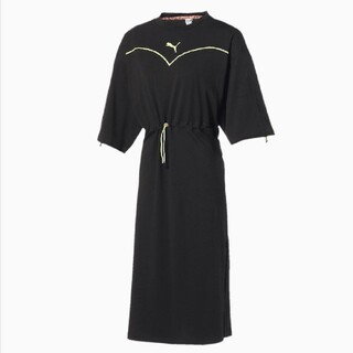 プーマ(PUMA)のプーマ  PUMA NiCORON DRESS ブラック  Lサイズ  新品(ロングワンピース/マキシワンピース)