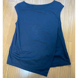フレームワーク(FRAMeWORK)のフレームワーク 紺カットソー 袖なし Mサイズ(カットソー(半袖/袖なし))