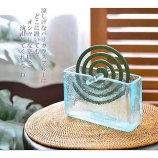 クラックガラス バリ島 蚊取り線香ホルダー ☆*°(置物)