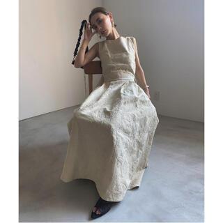 アメリヴィンテージ(Ameri VINTAGE)のAMERI DENIM LIKE FLOWER DRESS(ロングワンピース/マキシワンピース)