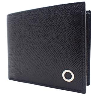 ブルガリ(BVLGARI)のブルガリ 二つ折り財布 グレインカーフレザー ブラック黒 40800072605(折り財布)