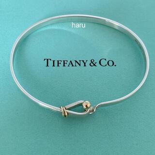 Tiffany & Co. - TIFFANY&Co. ティファニー18金&シルバーフラットワイヤー バングル