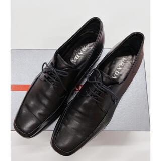 プラダ(PRADA)のプラダ PRADA 革靴 ビジネス メンズ 7ハーフ 27.5cm 黒(ドレス/ビジネス)