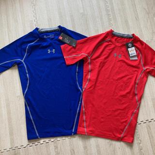 UNDER ARMOUR - 4.新品 アンダーアーマー メンズ インナーシャツ 半袖 SM 2点セット