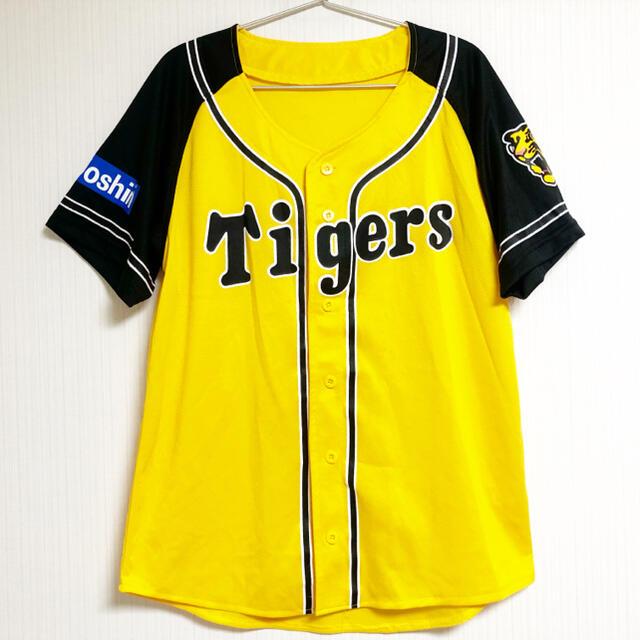 阪神タイガース(ハンシンタイガース)の阪神タイガース Tigers 阪神 ユニフォーム 背番号 イエロー 黄色 スポーツ/アウトドアの野球(応援グッズ)の商品写真