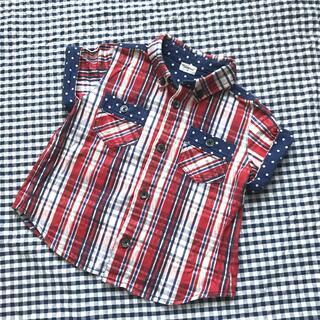 コンビミニ(Combi mini)の半袖 ボタンダウン シャツ(ブラウス)