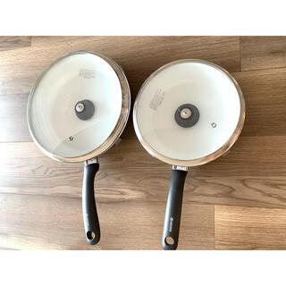 京セラ - 21cmフライパン(ガラス蓋含む)・26cmフライパン(ガラス蓋含む)