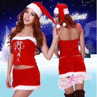 bd38サンタ コスプレ サンタ 衣装サンタ スカート サンタ帽子クリスマス衣装(衣装一式)