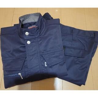 トライチ(寅壱)の寅壱作業服 2着セットと、おまけ(ワークパンツ/カーゴパンツ)