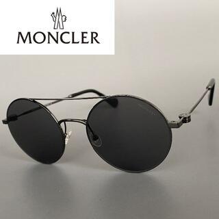 モンクレール(MONCLER)のモンクレール ガンメタ グレー ツーブリッジ サングラス ブラック ダウン(サングラス/メガネ)