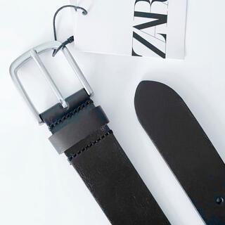 ザラ(ZARA)の新品 ZARA MAN ザラ マン メンズ ベーシック レザー レザー ベルト(ベルト)
