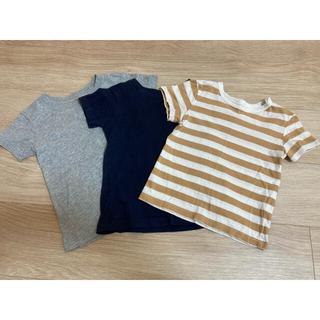 ムジルシリョウヒン(MUJI (無印良品))の無印良品 Tシャツ 3枚セット 半袖 90(Tシャツ/カットソー)