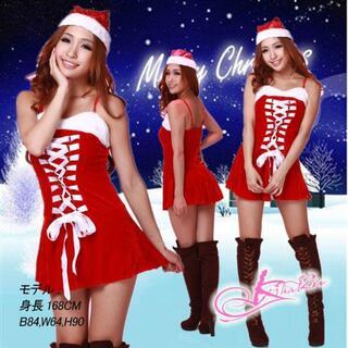 bd43《アウトレット》サンタ コスプレ サンタ 衣装 サンタ帽子 Tバック3点(衣装一式)